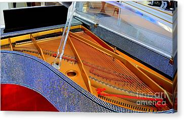Inside The Rhinestone Piano Canvas Print by Mary Deal