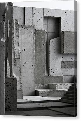 Inside The Walls 3 Canvas Print by David Umemoto