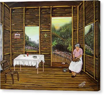 Inside Wooden Home Canvas Print by Gloria E Barreto-Rodriguez