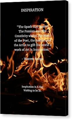 Inspiration And Creativity Canvas Print by Warren Brown