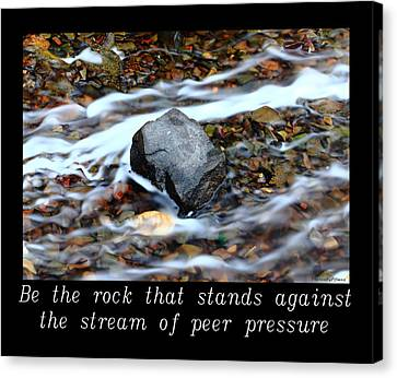 Inspirational-be The Rock Canvas Print