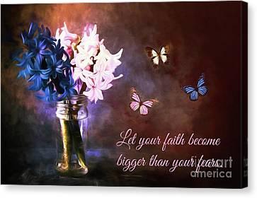 Inspirational Flower Art Canvas Print by Tina LeCour