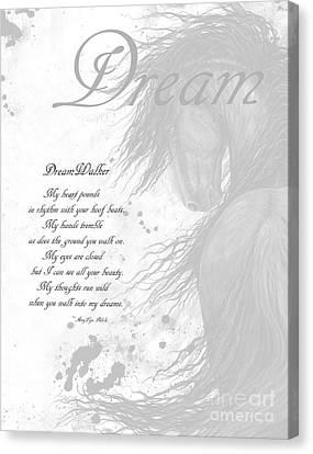 Inspirational Poem Dreams Canvas Print by AmyLyn Bihrle
