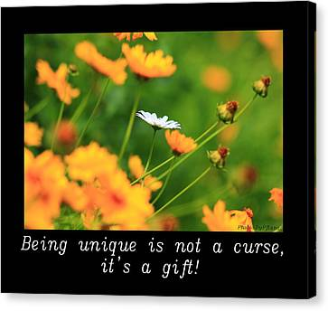 Inspirational-being Unique Is A Gift Canvas Print