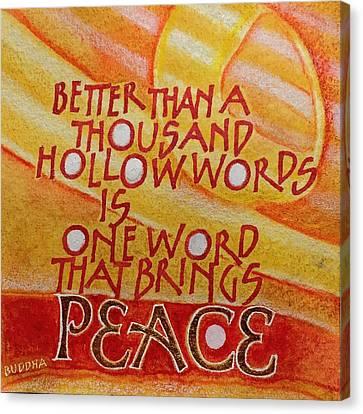 Inspirational Saying Peace Canvas Print