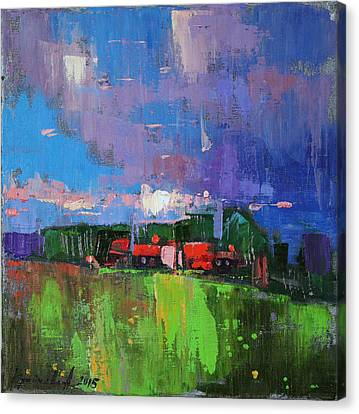 Canvas Print featuring the painting Inspired  by Anastasija Kraineva