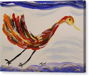 Inspired By Calder's Only Only Bird Canvas Print by Mary Carol Williams
