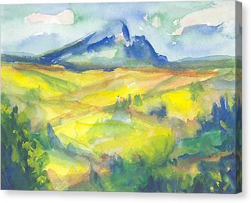 Inspired By Cezanne Canvas Print by Connie Schaertl
