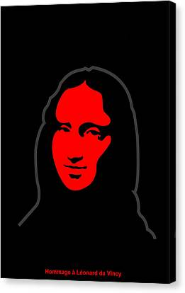 Inspired By Mona Lisa - Hommage A Leonardo Da Vincy Canvas Print by Asbjorn Lonvig