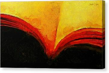 Hourglass Canvas Print - Inspiring Book - Pa by Leonardo Digenio