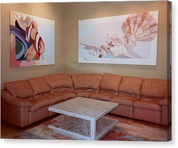 Sofa Size Canvas Print - Installation Sea by Marlene Burns