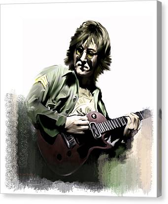 Cover Art Canvas Print - Instant Karma  John Lennon by Iconic Images Art Gallery David Pucciarelli