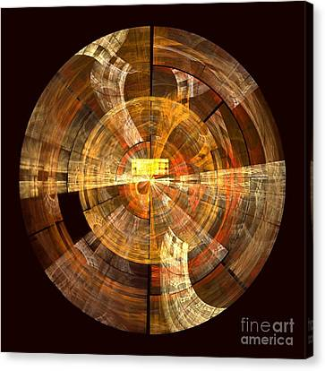 Brown Color Canvas Print - Integrity by Oni H
