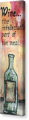 Intellectual Wine Panel 1 Canvas Print by Cathy Weaver