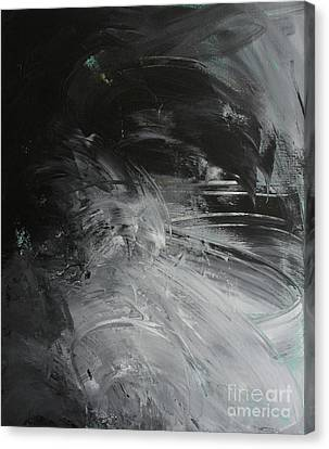 Canvas Print featuring the painting Intelligent Answers by Robin Maria Pedrero