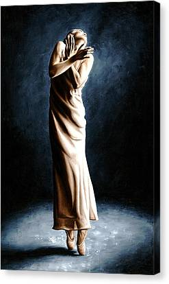Intense Ballerina Canvas Print by Richard Young