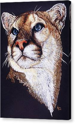 Canvas Print featuring the drawing Intense by Barbara Keith