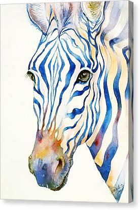 Intense Blue Zebra Canvas Print