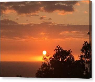 Canvas Print - Intense Sunset by Karen Nicholson