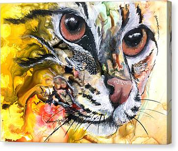 Canvas Print featuring the painting Intensity by Sherry Shipley