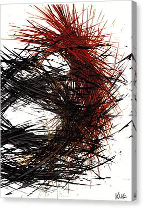 Modern Abstract Canvas Print - Intensive Abstract Expressionism Series 58.092811 by Kris Haas