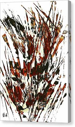 Intensive Abstract Painting 337.111311 Canvas Print by Kris Haas