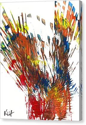 Intensive Abstract Painting 944.021912 Canvas Print by Kris Haas