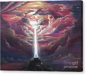 Intercession Through Worship Canvas Print by Kathy Brusnighan