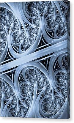 Interchange Cyanotype Canvas Print