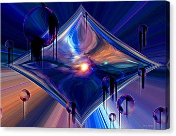 Canvas Print featuring the digital art Interdimensional Portal by Linda Sannuti