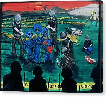 Intergalactic Misunderstanding Canvas Print