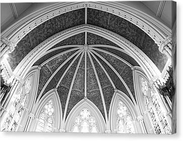 Canvas Print featuring the photograph Interior Architecture Of A Church by Anthony Rego