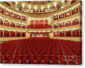 Interior Auditorium Of The Great Theater - Opera Canvas Print