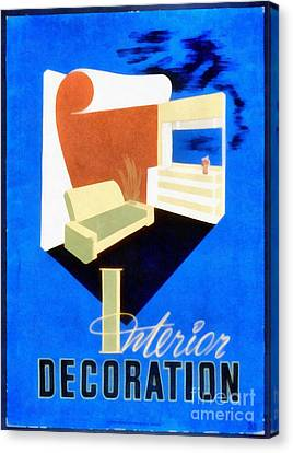Interior Decoration Vintage Wpa Poster Canvas Print by Edward Fielding