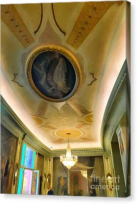interior in Rome Canvas Print by HD Connelly