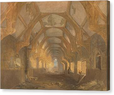 Interior Of A Dormitory Of The Ipswich Blackfriars At The End Of Its Period Of Occupation By Ipswich Canvas Print by John Sell Cotman