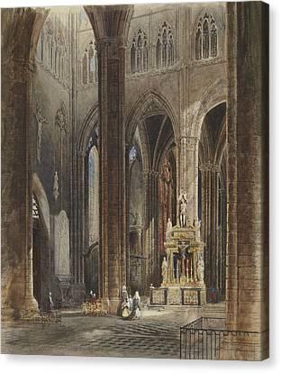 Interior Of Amiens Cathedral Canvas Print