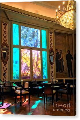 interior of hotel in Rome Canvas Print by HD Connelly