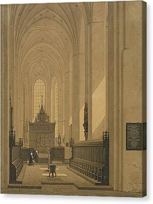 Interior Of The Cathedral At Aarhus Canvas Print by MotionAge Designs