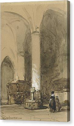 Interior Of The Church Hattem Canvas Print