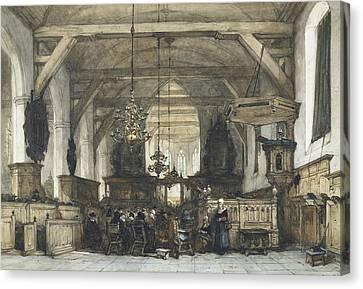 Interior Of The Church In Maasland Canvas Print