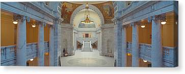 Greek Icon Canvas Print - Interior Of Utah State Capitol, Salt by Panoramic Images