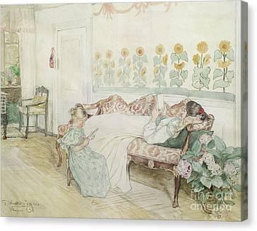 Interior Canvas Print by Peder Severin Kroyer