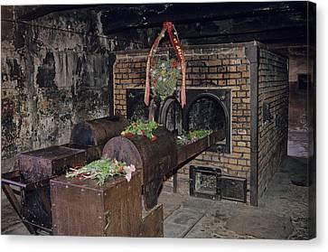 Interior View At Auschwitz Canvas Print by Kenneth Garrett