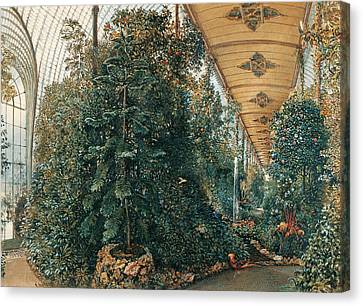 Interior View Of The Palm House Of Chateau Lednice Canvas Print