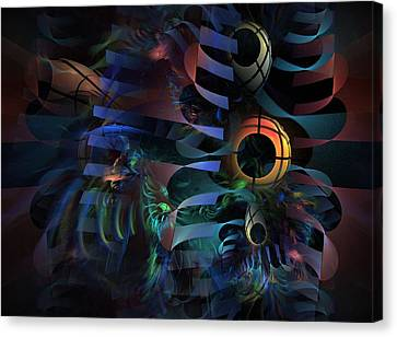 Canvas Print featuring the digital art Interlude 1536 - Fractal Art by NirvanaBlues