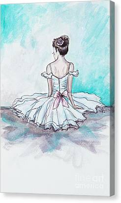 Dance Ballet Roses Canvas Print - Intermission by Elizabeth Robinette Tyndall