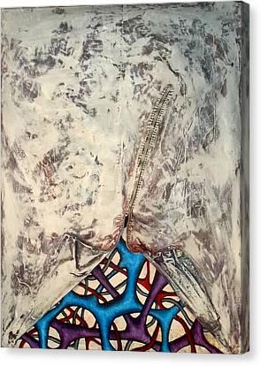 Internally Unzipped Canvas Print by Nancy Mueller