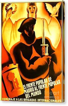International Brigade Homage Canvas Print by Roberto Prusso