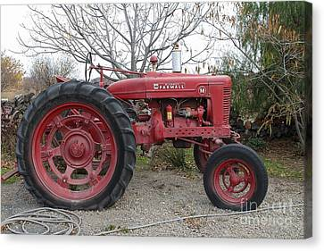 International Harvester Mccormick Farmall Farm Tractor . 7d10320 Canvas Print by Wingsdomain Art and Photography